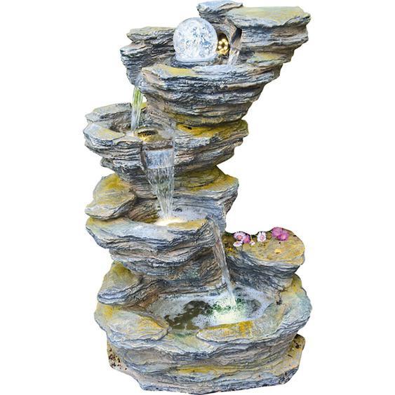 Granimex Wasserspiel Fudong Polyresin Natur 86 cm x 54 cm x 42 cm