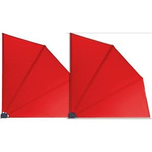 Grasekamp 2 Stück Balkonfächer Rot Premium 140 x 140 cm