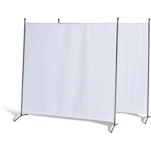 Grasekamp 2 Stück Stellwand 180 x 180 cm Weiß