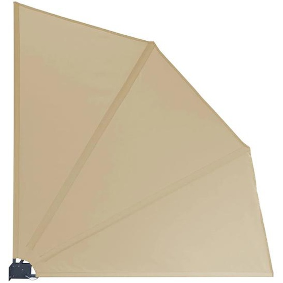 Grasekamp Balkonfächer Premium 140x140cm Sand mit Wandhalterung