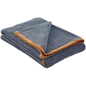 Gray & Jones Wohndecke   blau   100% Baumwolle   130 cm   Möbel Kraft