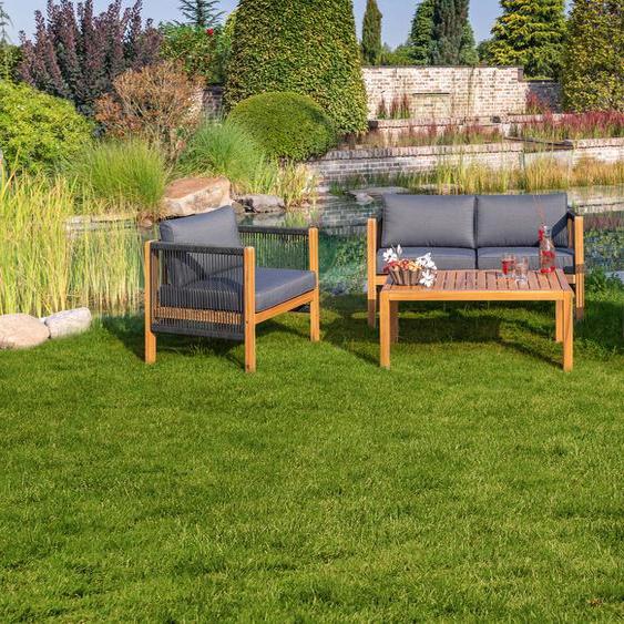 Greemotion Loungeset Abaco Einheitsgröße grau Lounge-Gartenmöbel Gartenmöbel Gartendeko