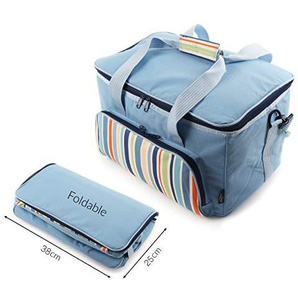 Greenfield Collection Sky Blue 20 Litre Foldable Cool Bag