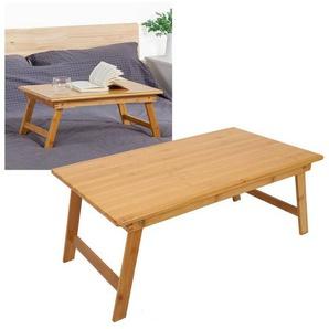 Greensen Laptoptisch, Laptop-Schreibtisch klappbar Betttisch Serviertablett Frühstückstablett Frühstücks, Bambus