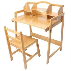 Greensen Schreibtisch, Computertisch Bürotisch Studientisch und Stuhlset Arbeitstisch-Set verstellbare, Bambus