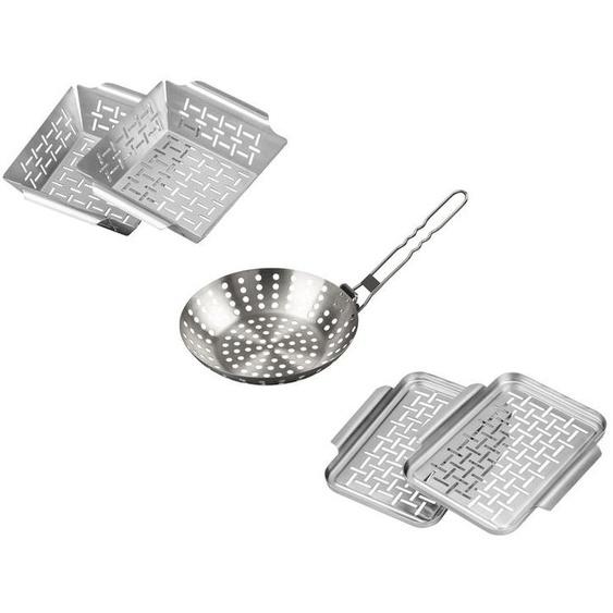 Grillplatten/ Grillkörbe, mit perforierter Garfläche, aus Edelstahl