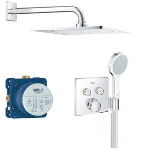 Grohe Duschsystem Grohtherm Smartcontrol, eckig, chrom Einheitsgröße silberfarben Duschsysteme Badarmaturen Bad Sanitär