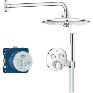 Grohe Duschsystem Grohtherm Smartcontrol, rund, chrom Einheitsgröße silberfarben Duschsysteme Badarmaturen Bad Sanitär