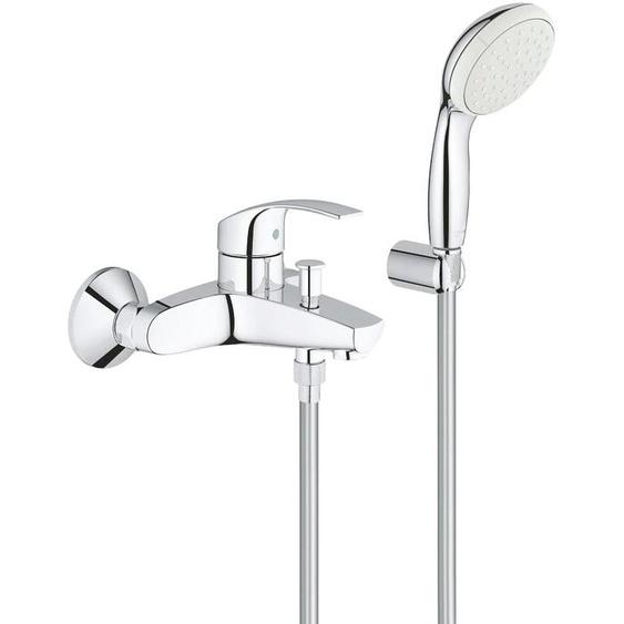 Grohe Waschtischarmatur Eurosmart, für Wandmontage, Einhandbatterie DN 15 B: cm silberfarben Waschtischarmaturen Badarmaturen Bad Sanitär