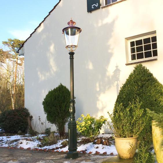 Große Nostalgie Aussenlampen Gartenbeleuchtung Antik Laternen Lampen - H.284 cm