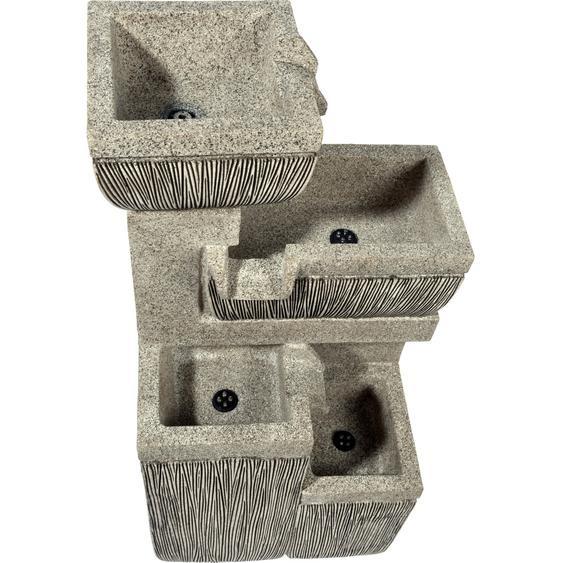 Großer Design-Gartenbrunnen mit 4 Stufen 38,7 cm x 32,3 cm x 80,3 cm
