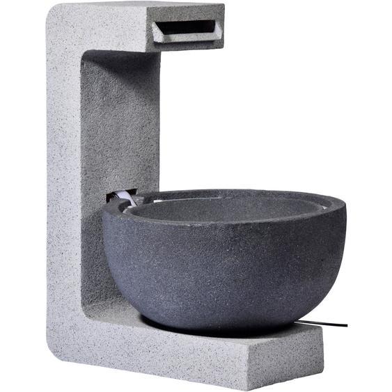 Großer Design-Gartenbrunnen mit runder Schale 52 cm x 44 cm x 65 cm