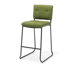Grüner Küchenhocker aus Kunstleder und Metall (4er Set)