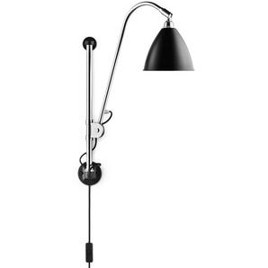Gubi - BL5 Wandleuchte - matt schwarz/chrom - mit Schalter