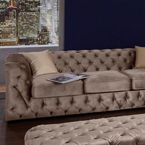 GMK Home & Living 3-Sitzer »Kalina«, mit klassischer Chesterfield-Knopfheftung