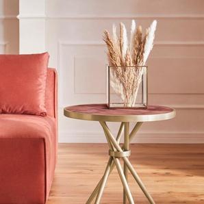 Guido Maria Kretschmer Home&Living Beistelltisch Marble, in modernem Design B/H: 52 cm x 60 rot Beistelltische Tische
