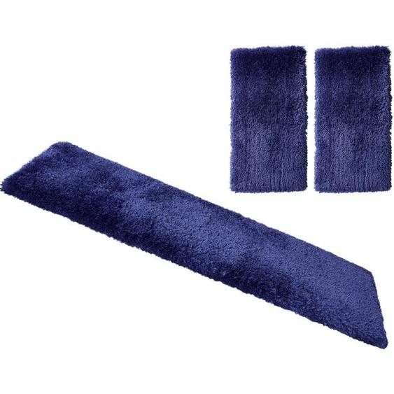 Guido Maria Kretschmer Home&Living Bettumrandung Micro exclusiv, democratichome Edition B/L (Brücke): 70 cm x 140 (2 St.) (Läufer): 270 (1 St.), rechteckig blau Bettumrandungen Läufer Teppiche