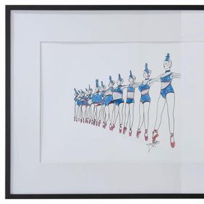 Guido Maria Kretschmer Home&Living Bild »Bild«, Mode, Zeichnung, mit schwarzem Holzrahmen, 90/60 cm