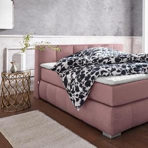 Guido Maria Kretschmer Home&living Boxspringbett »Chelles«, rosa, 200/200 cm, Härtegrad 3