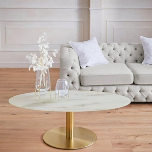 Guido Maria Kretschmer Home&Living Couchtisch »Shinely«, 0,8 cm starke Tischplatte in Marmoroptik