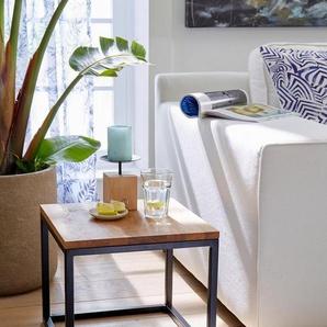 GMK Home & Living Couchtisch »Voorst« aus massiver Eiche und Metallgestell