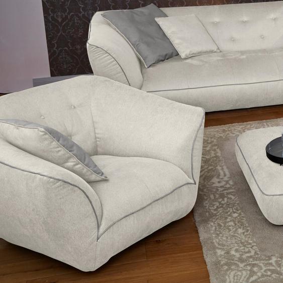 Guido Maria Kretschmer Home&Living Drehsessel Nida Struktur beige Sessel