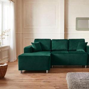 Guido Maria Kretschmer Home&Living Ecksofa »Györ«, wahlweise mit Bettfunktion und Bettkasten incl. 2 Zierkissen, democratichome Edition