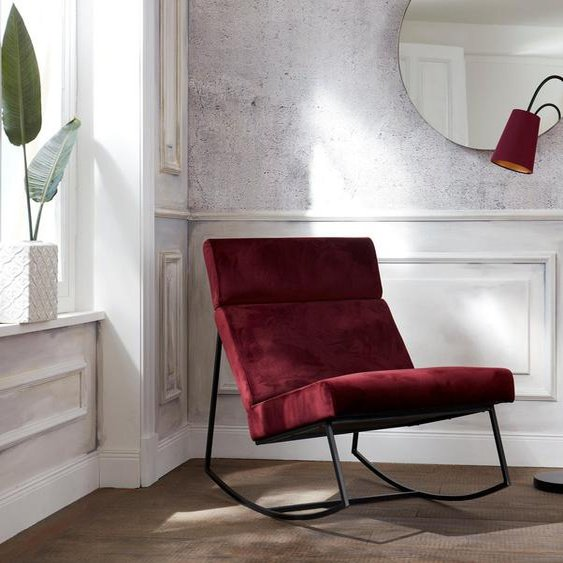 Guido Maria Kretschmer Home&Living Schaukelstuhl »Soel« mit modernen Metallgestell und weichem Samtvelours Bezug