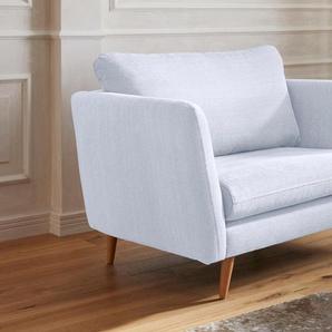 Guido Maria Kretschmer Home&Living Sessel Cergy, in skandinavischem Stil mit Beinen aus Eiche Baumwolle, B/H/T: 129 cm x 87 94 beige Hocker Möbel sofort lieferbar