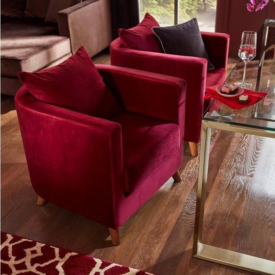 Guido Maria Kretschmer Home&Living Sessel »Vaals«, inklusive gemütlichen Rückenkissen mit Logostickerei
