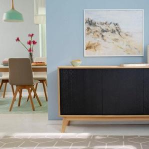 GMK Home & Living Großes Sideboard «Calluna», im modernen, skandinavischen Design, Breite/Höhe 158/80 cm