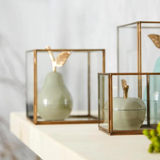 Guido Maria Kretschmer Home&Living Windlicht, handgefertigt 11 / 16 18,5x11 18,5x11,5 21 cm goldfarben Kerzenhalter Kerzen Laternen Wohnaccessoires