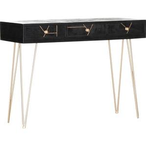 Gutmann Factory Konsole Scan, mit modernen Haarnadel Beinen B/H/T: 115 cm x 82 43 cm, Anzahl Schubladen: 3 schwarz Wandtische Konsolentische Tische