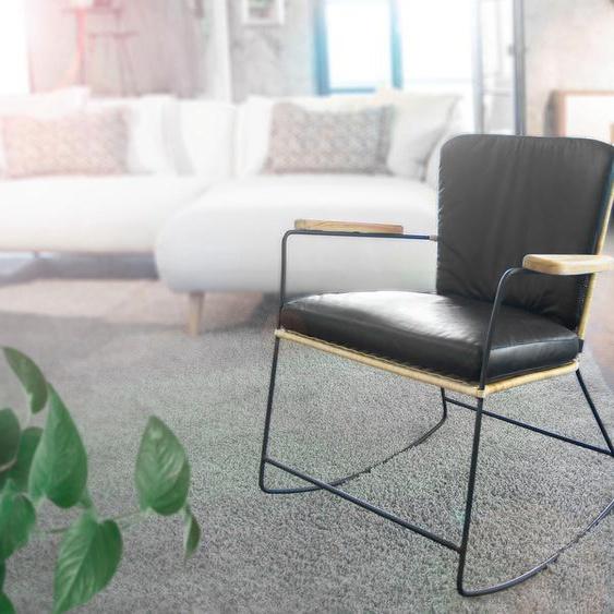 Gutmann Factory Sessel Malaka, mit abnehmbaren Kissen Einheitsgröße grau Schaukelstühle Stühle Sitzbänke