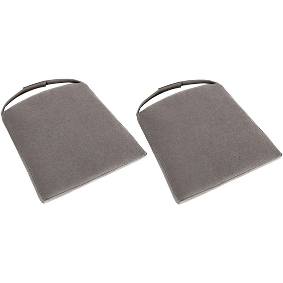 Gutmann Factory Sitzkissen 2x 45x45 cm, Microfaser grau Stuhlkissen Kissen Kopfkissen