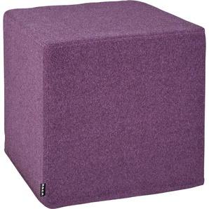 H.O.C.K. Hocker Livigno Cube (1 Stück) 0, Maße(B/T/H):(45/45/45) lila Sitzhocker