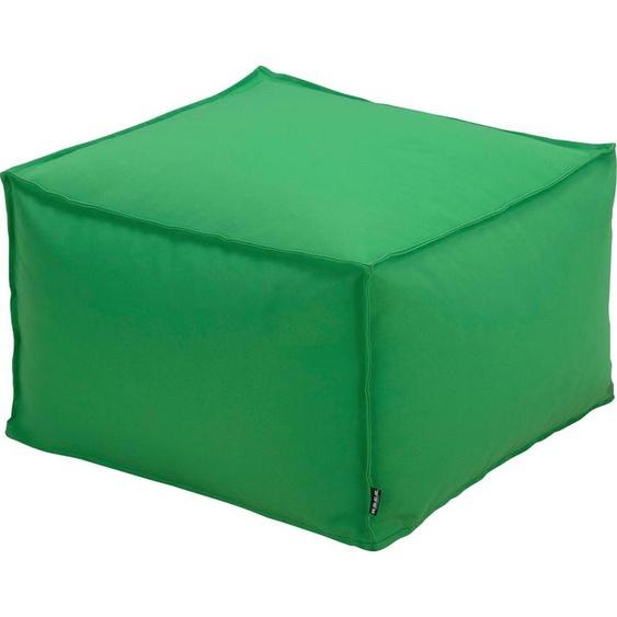 H.O.C.K. Sitzsack Blobby (1 Stück) B/T/H: 55x35x55 cm grün Sitzkissen Sitzwürfel Hocker Sitzsäcke