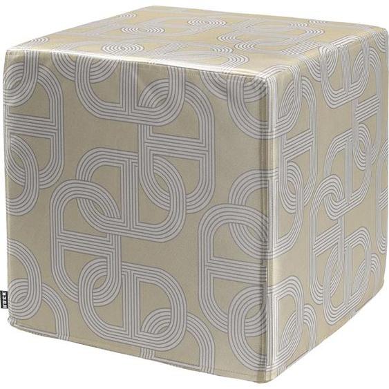 H.O.C.K. Sitzwürfel Retro-Silvy Polyester beige Poufs Hocker