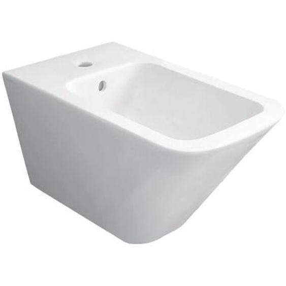 Hänge-Bidet 36x55 cm aus keramik serie Crio | Glänzendes Weiß - Standard