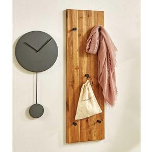 Hängegarderobe aus Eiche Massivholz geölt 5 Kleiderhaken