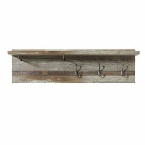 Hängegarderobe in Grau Treibholz Dekor 130 cm