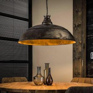 H�ngelampe im Industry Look Metall in Altsilberfarben