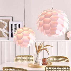 Hängelampe rosa Zapfenform SEGRE Groß