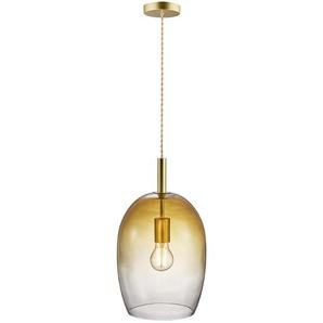 Hängeleuchte , Bernstein , Glas , 23x39.5 cm , Innenbeleuchtung, Pendelleuchten