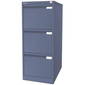 BISLEY Hängeregistraturschrank, 1-bahnig - 3 Schübe, DIN A4, blau | 3633605