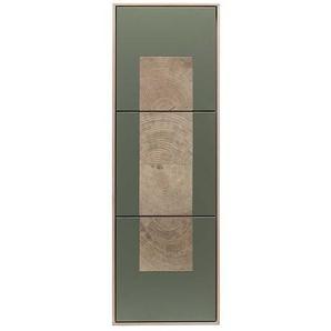 Hängeschrank in Beton Grau und Buche hell 120 cm hoch