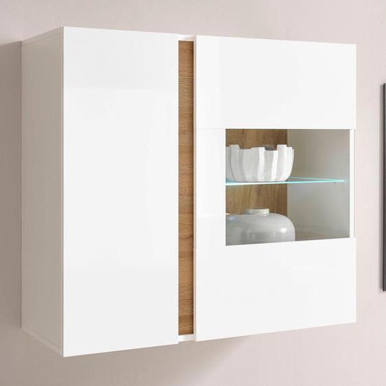 Hängevitrine CLAIR, Breite 97 cm x 83 40 (B H T) cm, 2-türig weiß Hängevitrinen Vitrinen Schränke