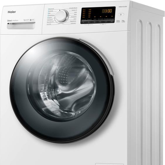 Haier Waschmaschine HW80-B1439N, 8 kg, 1400 U/min A (A bis G) Einheitsgröße weiß Waschmaschinen SOFORT LIEFERBARE Haushaltsgeräte