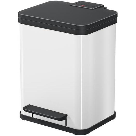 Hailo Tret-Abfalltrenner Öko Duo Plus M 2 x 9 l weiß