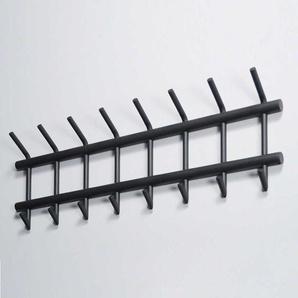 Hakengarderobe aus Stahl Dunkelgrau